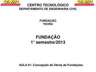 AULA  01:  Concepção de Obras de Fundações