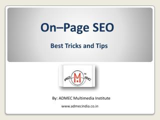 Tips and tricks of on page seo