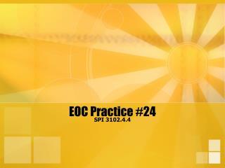 EOC Practice 24