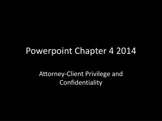 Powerpoint  Chapter 4 2014