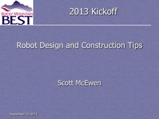 Robot Design and Construction Tips