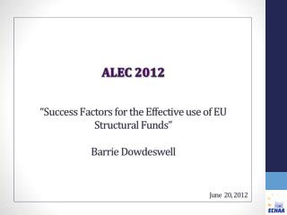 Structural Funds – looking towards 2014/20
