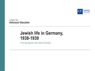Jewish life in Germany,  1938-1939