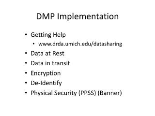 DMP Implementation