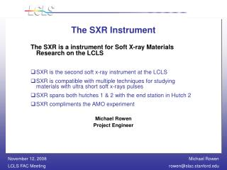 The SXR Instrument