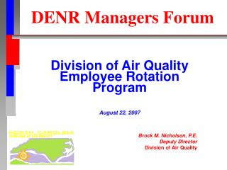 DENR Managers Forum