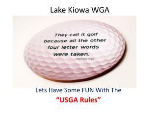 Lake Kiowa WGA