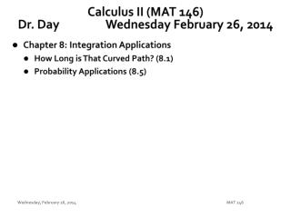 Calculus II (MAT 146) Dr. Day		Wednesday February 26, 2014