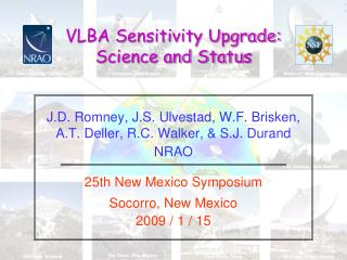 VLBA Sensitivity Upgrade:  Science and Status