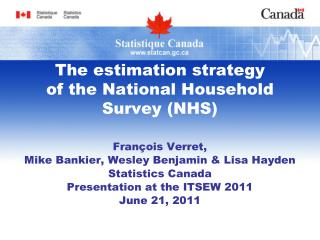 The estimation strategy of the National Household Survey (NHS)