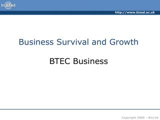 Business Survival and Growth BTEC Business