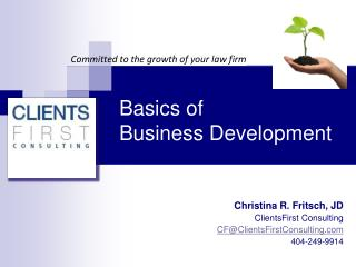 Basics of  Business Development
