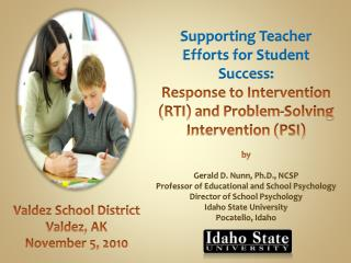 Supporting Teacher Efforts for Student Success: