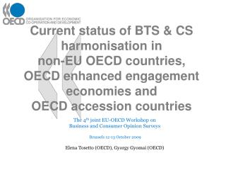 The 4 th  joint EU-OECD Workshop on Business and Consumer Opinion Surveys