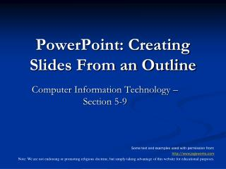 PowerPoint: Creating Slides From an Outline