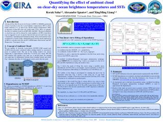 Quantifying the effect of ambient  cloud on  clear-sky ocean brightness temperatures and  SSTs