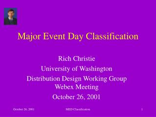 Major Event Day Classification