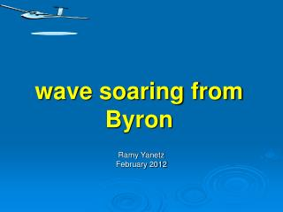 wave soaring from Byron
