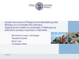 Ministarstvo nauke i tehnologije  Republike Srpske  Banja Luka Christopher Moss