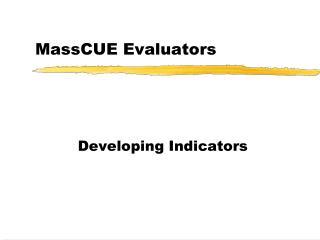MassCUE Evaluators