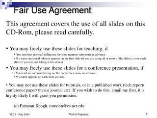 Fair Use Agreement