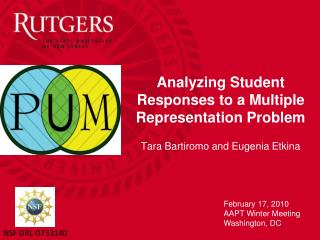 Analyzing Student Responses to a Multiple Representation Problem