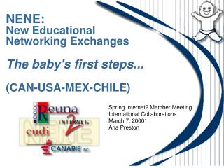 NENE:  New Educational  Networking Exchanges The baby's first steps... (CAN-USA-MEX-CHILE)