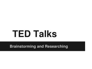 how to create a ted talk presentation