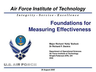 Foundations for Measuring Effectiveness