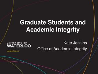 Graduate Students and Academic Integrity