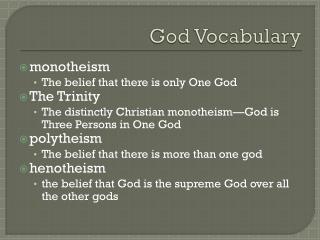 God Vocabulary