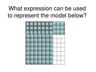 What expression can be used to represent the model below?