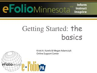 Getting Started:  the basics