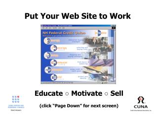 Put Your Web Site to Work