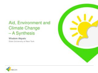 Aid, Environment and Climate Change  – A Synthesis