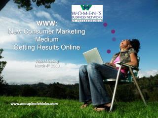 WWW:  New Consumer Marketing Medium