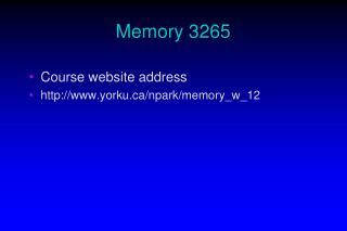 Memory 3265