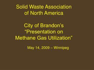 May 14, 2009 � Winnipeg