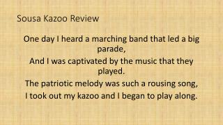 Sousa Kazoo Review