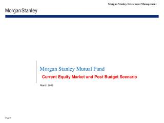 Morgan Stanley Mutual Fund
