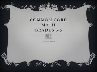 Common Core Math Grades 3-5