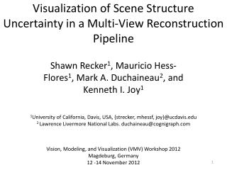 Visualization of Scene Structure Uncertainty in a Multi-View Reconstruction Pipeline
