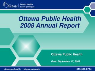 Ottawa Public Health 2008 Annual Report