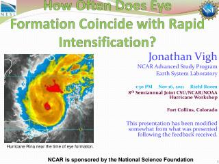 How Often Does Eye  Formation Coincide  with  Rapid Intensification?