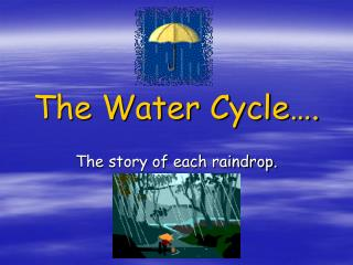 The Water Cycle .