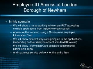 Employee ID Access at London Borough of Newham