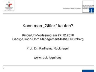 Prof. Dr. Karlheinz Ruckriegel ruckriegel
