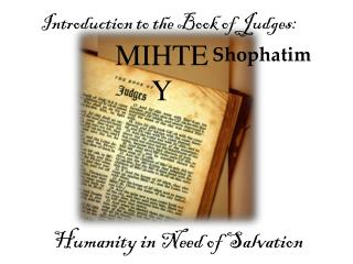 Introduction to the Book of Judges:
