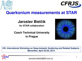 Jaroslav  Biel ?� k for STAR collaboration Czech  Technical  University in  Prague