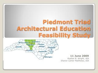 Piedmont Triad Architectural Education Feasibility Study